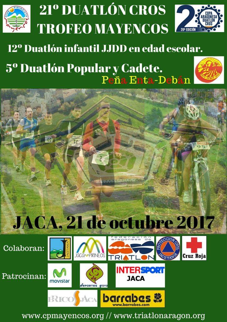 21º DUATLON CROS TROFEO MAYENCOS  PRUEBA VALEDERA PARA 20ª COPA ARAGONESA DE DUATLON CROS