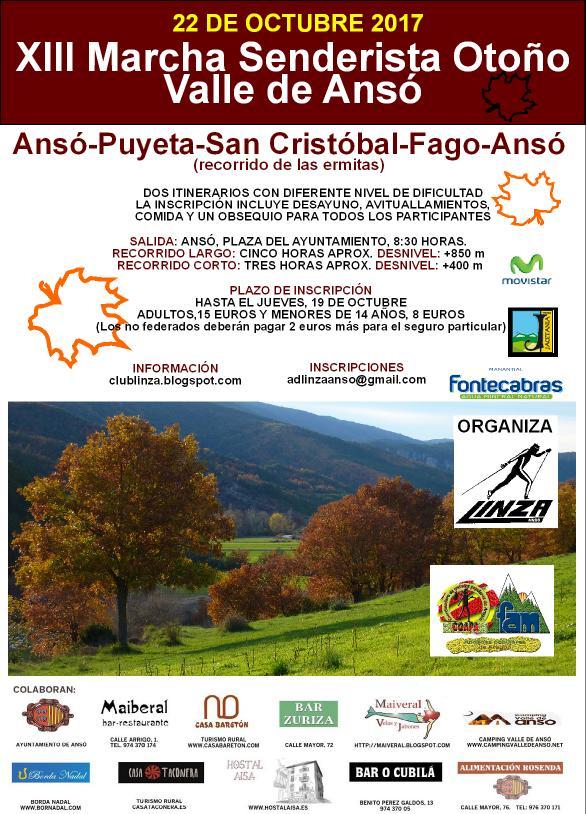 "XIII Marcha senderista de Otoño ""Valle de Ansó"""