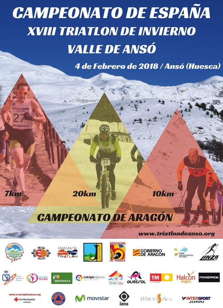 Triatlón de Invierno Valle de Ansó, Campeonato de España 2018