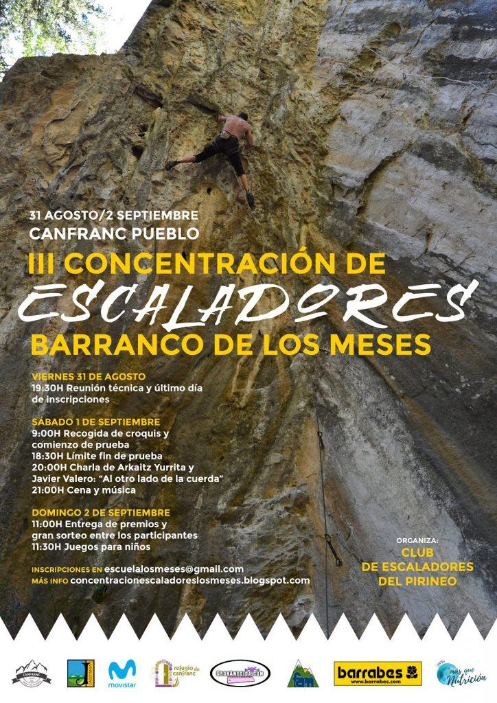 III CONCENTRACION DE ESCALADORES BARRANCO DE LOS MESES