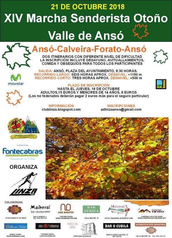 XIV Marcha senderista de otoño del Valle de Ansó