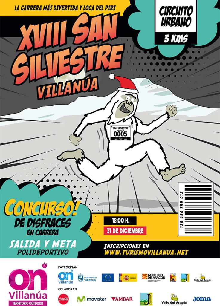 Abiertas las inscripciones de la San Silvestre de Villanúa,  la carrera más divertida y loca del Pirineo