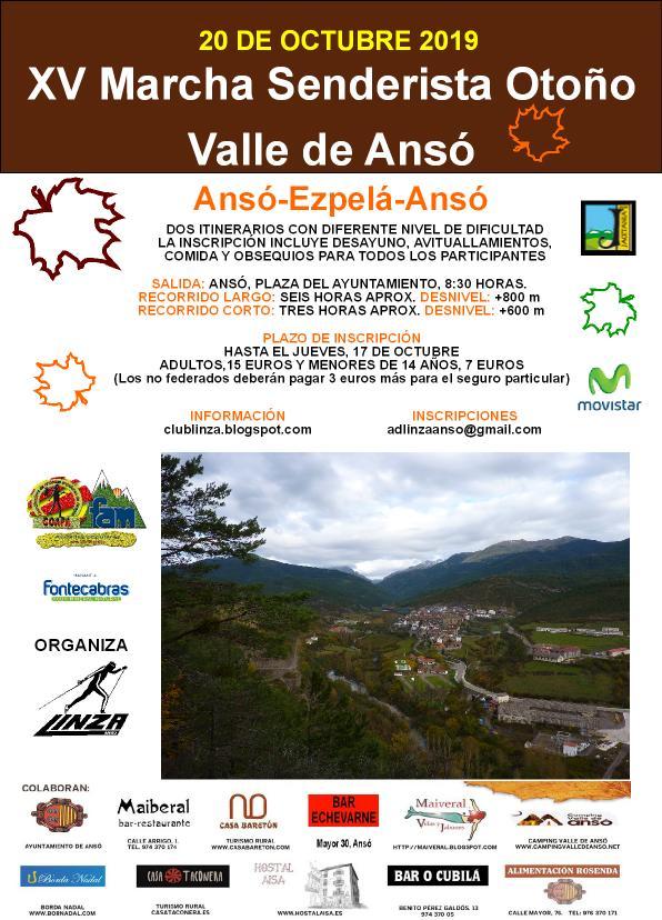 "XV MARCHA SENDERISTA ""OTOÑO"" VALLE DE ANSÓ"