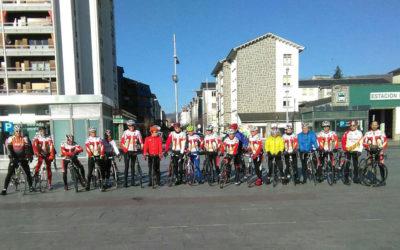 Salida del Belén ciclista de Mayencos