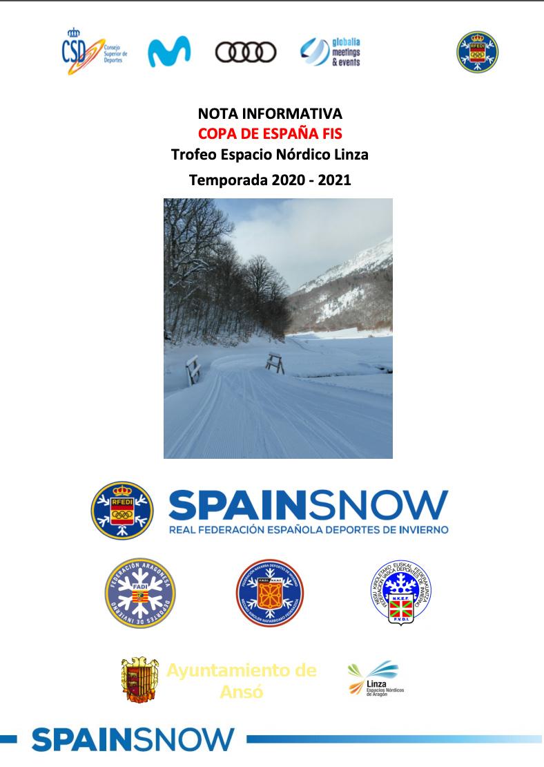 """Trofeo Espacio Nórdico Linza"""" Campeonato de España de Esquí de Fondo y FIS"""