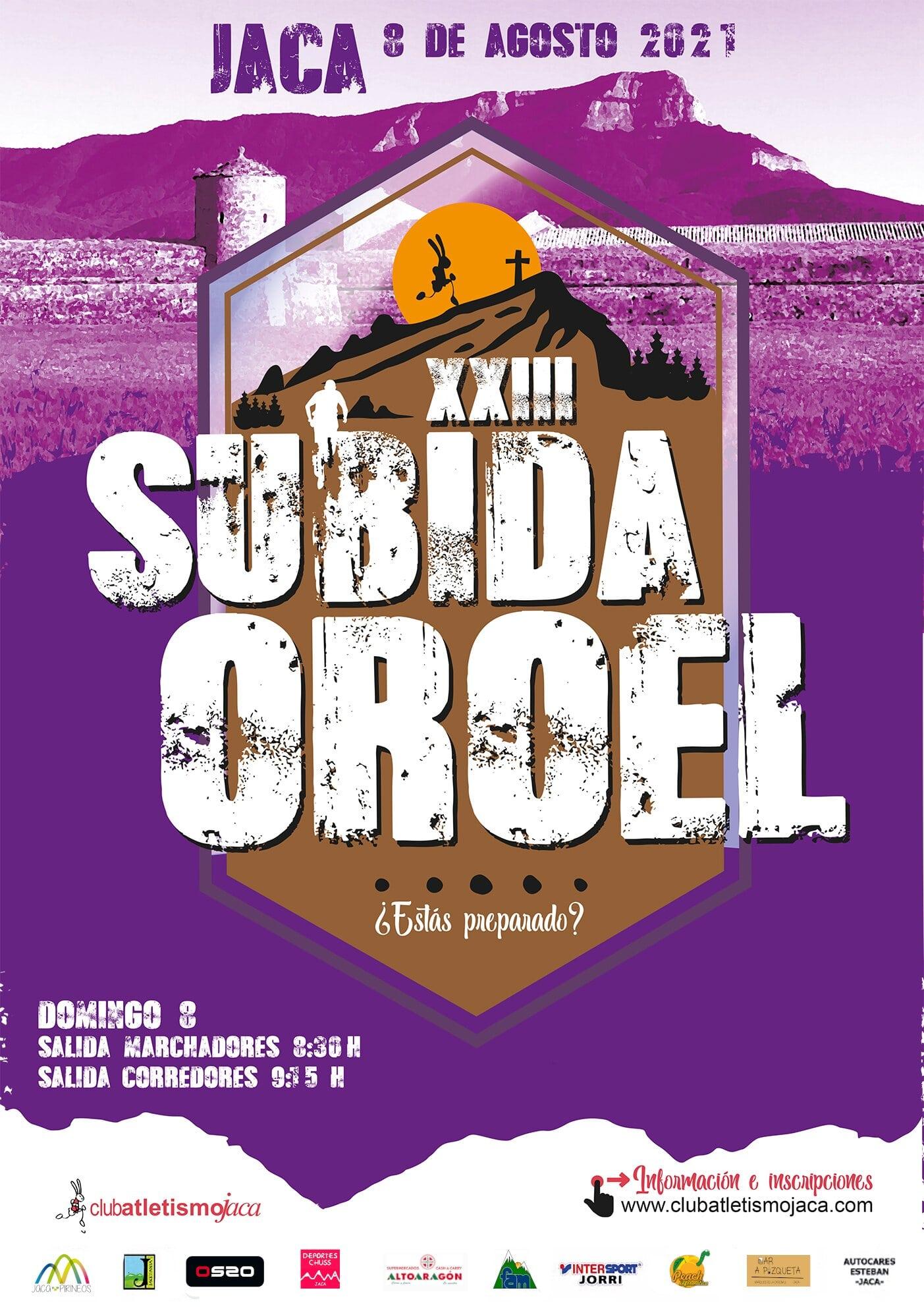 """La carrera Vertical """"Subida a Oroel"""" es un clásico de las carreras por montaña en Aragón."""